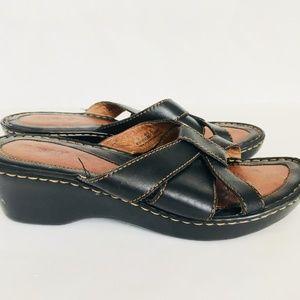 BORN Black & Brown Leather Sandals